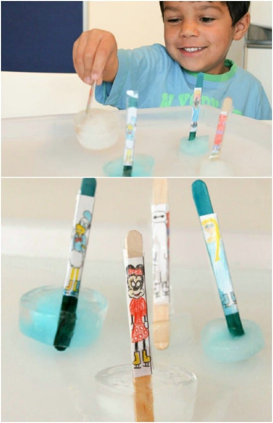 Easy DIY Disney On Ice Craft Stick Skaters