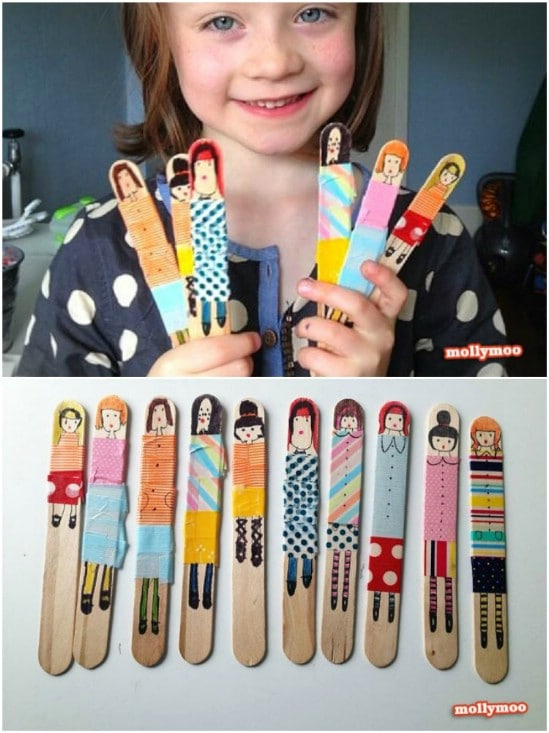 Cute DIY Popsicle Stick Dolls