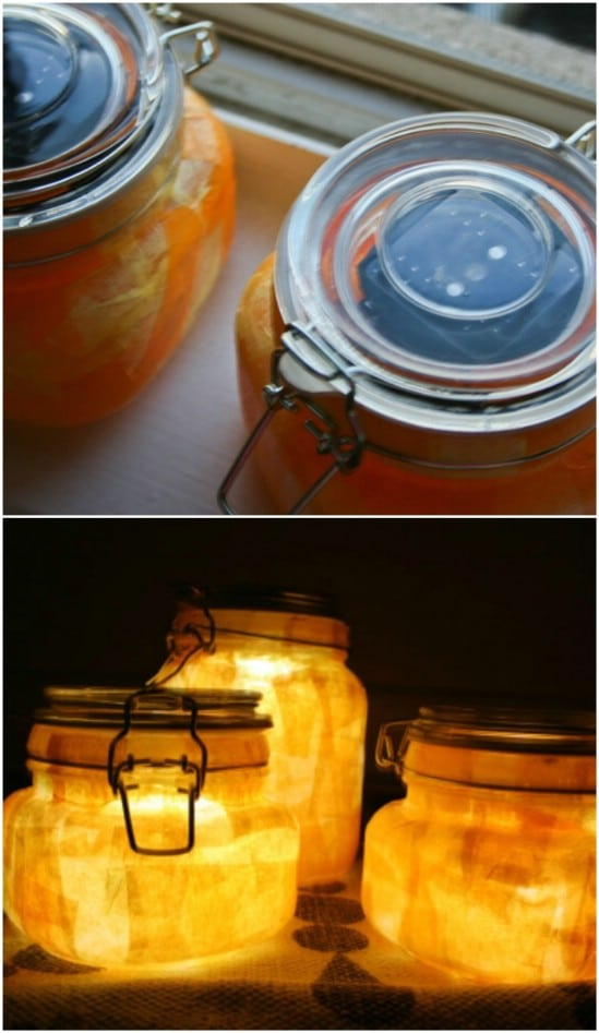 DIY Colorful Sunshine Jars
