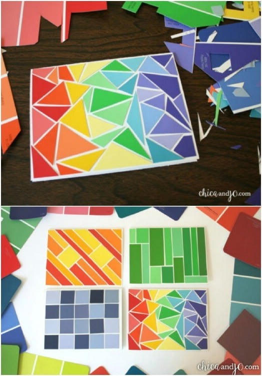 Colorful Paint Chip Thank You Cards