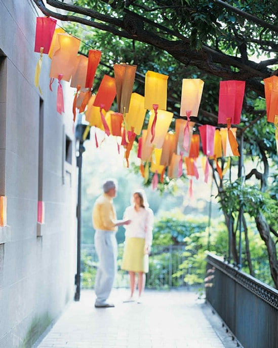 Ribbon Paper Bag Garden Lights