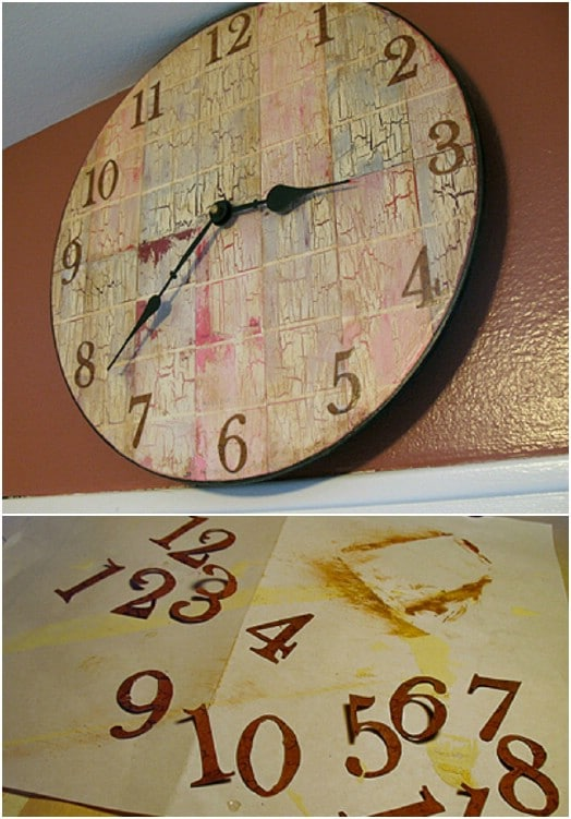 Rustic DIY Paint Chip Clock