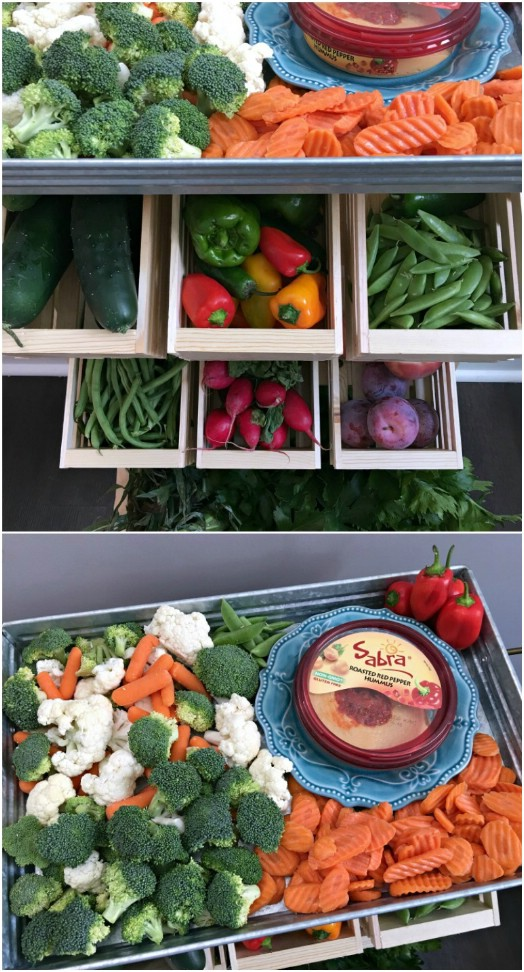 DIY Produce Stand With Veggie Platter