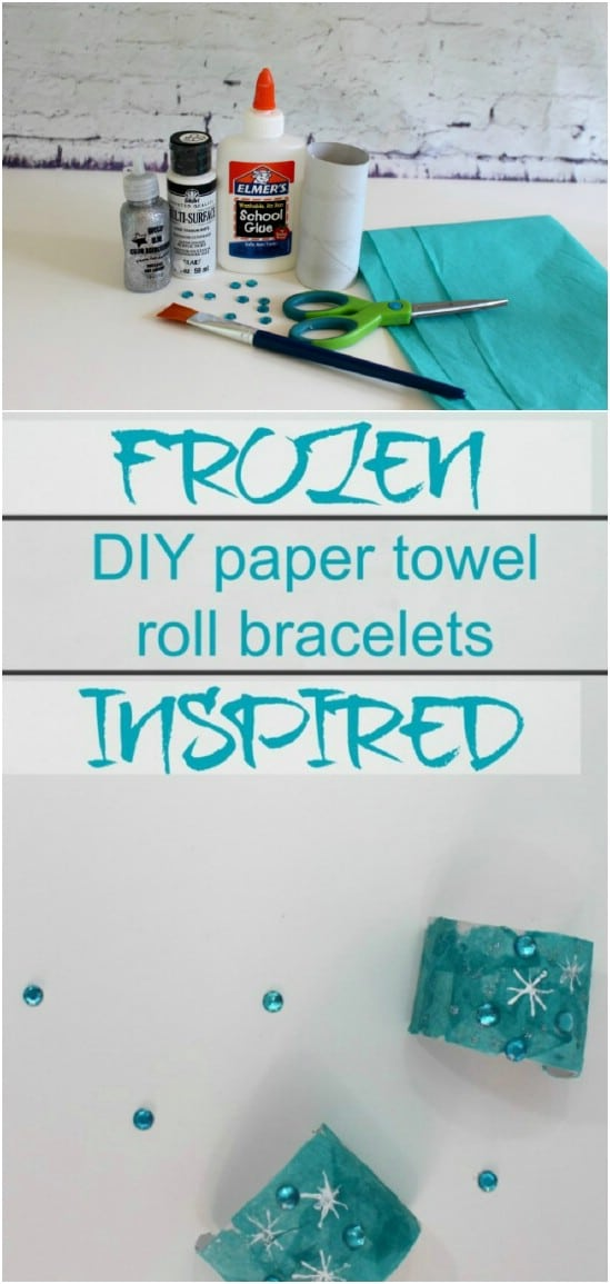 Frozen Themed Paper Roll Bracelets