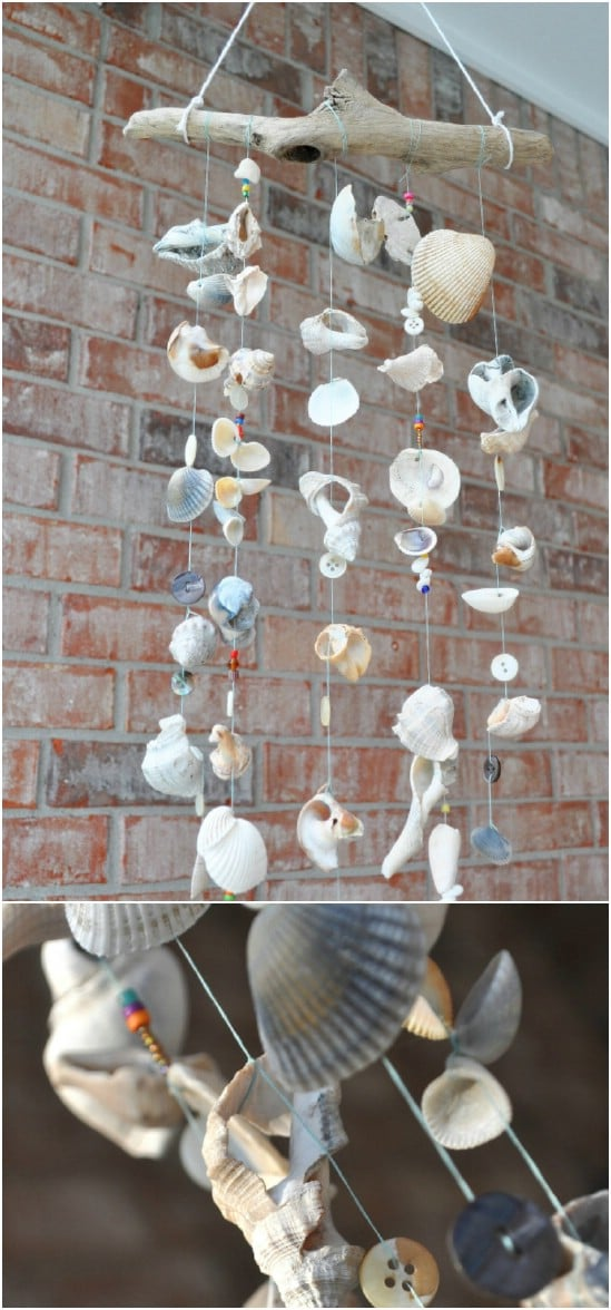 Easy DIY Seashell Wind Chimes