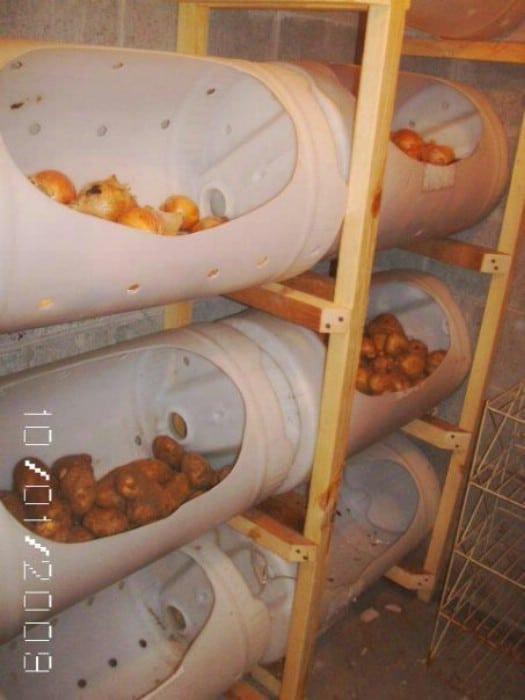 DIY Mass Potato Storage