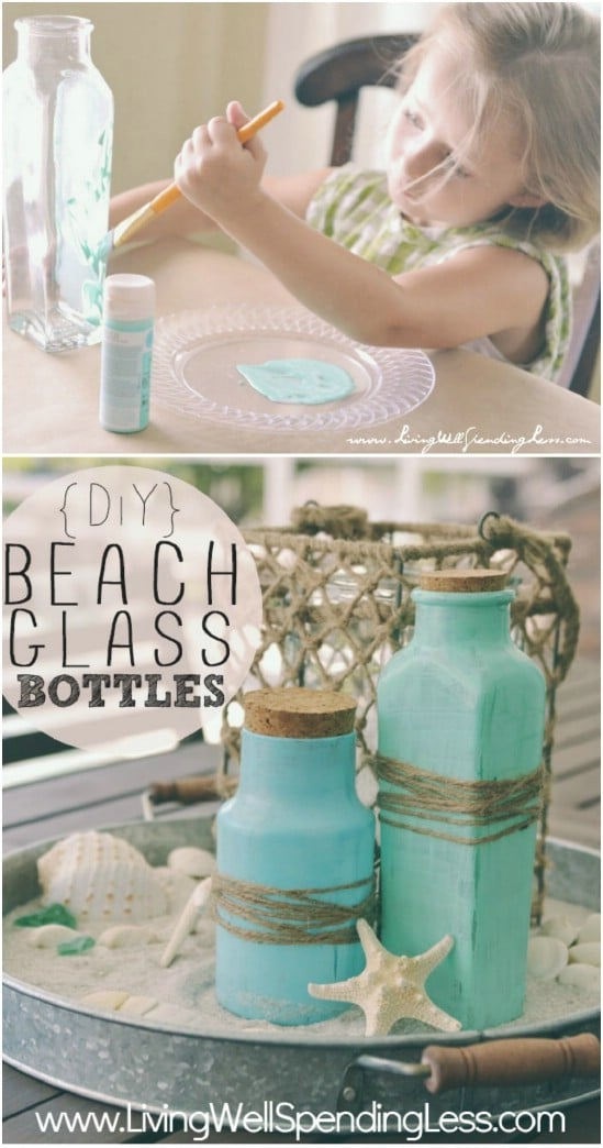 DIY Glass Beach Bottles