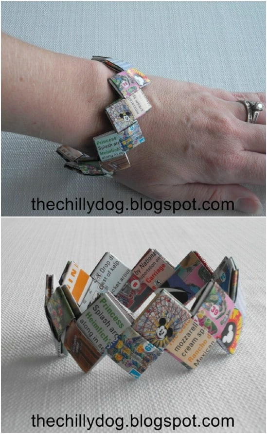 DIY Disneyland Map Bracelet
