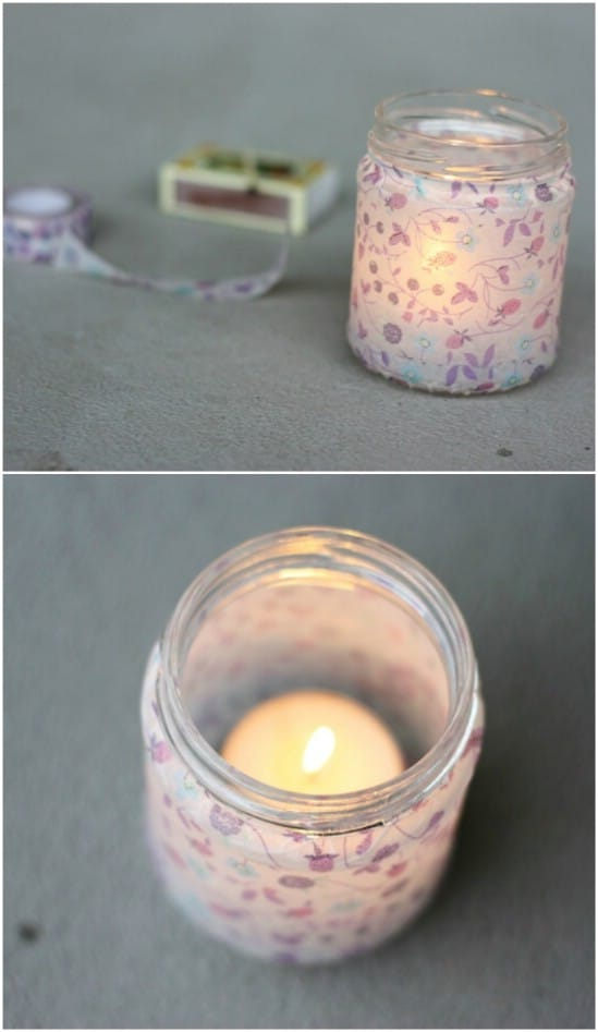 Cute DIY Washi Tape Lanterns
