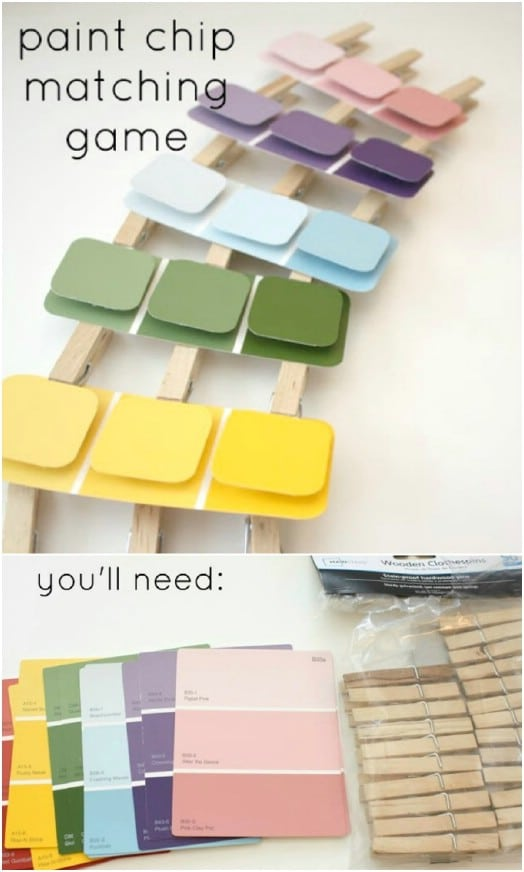 Cute Paint Chip Matching Game