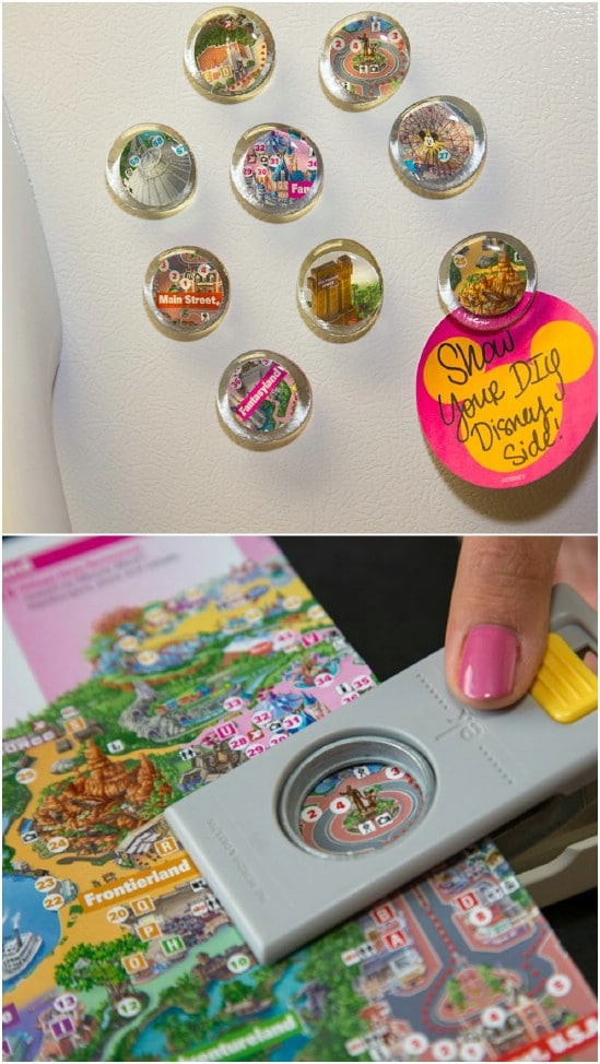 Easy DIY Disney Map Magnets