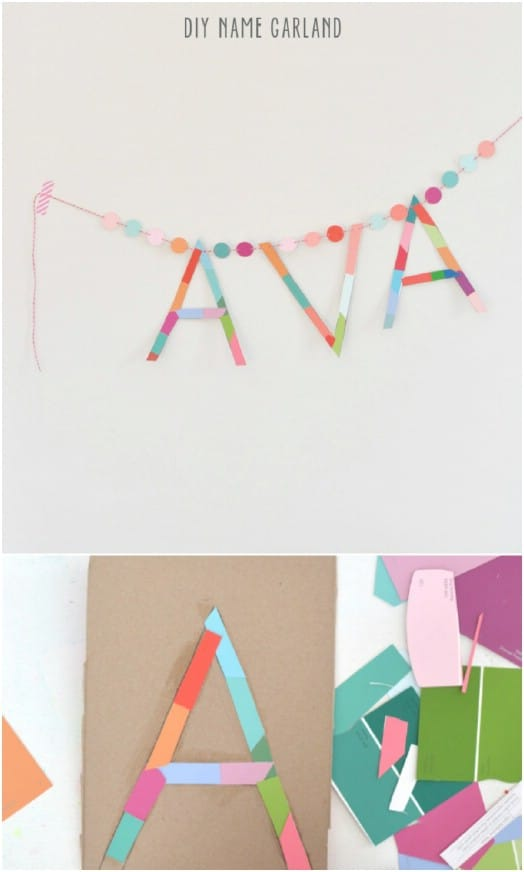Simple DIY Name Garland