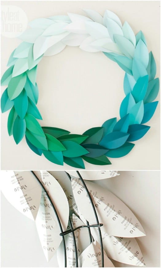 Lovely DIY Paint Chip Wreath