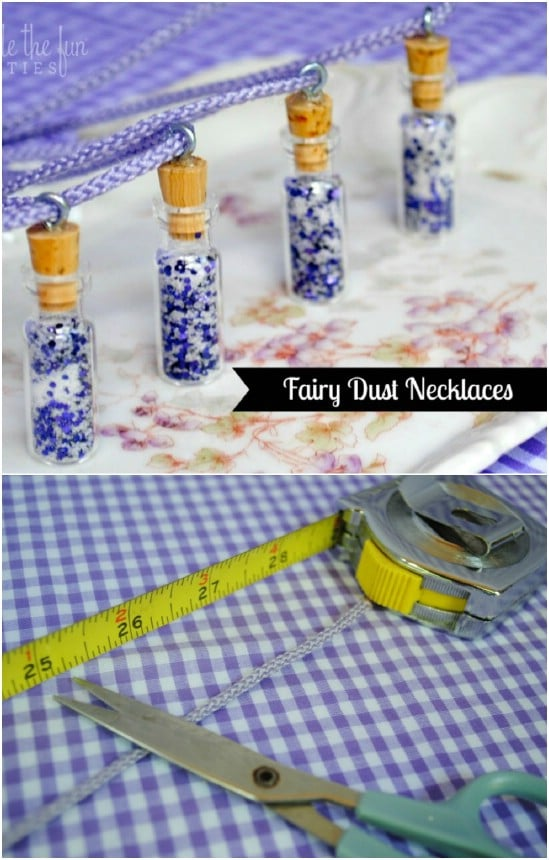 DIY Tinkerbelle Fairy Dust Necklace