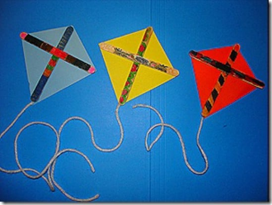 Popsicle Stick Kites