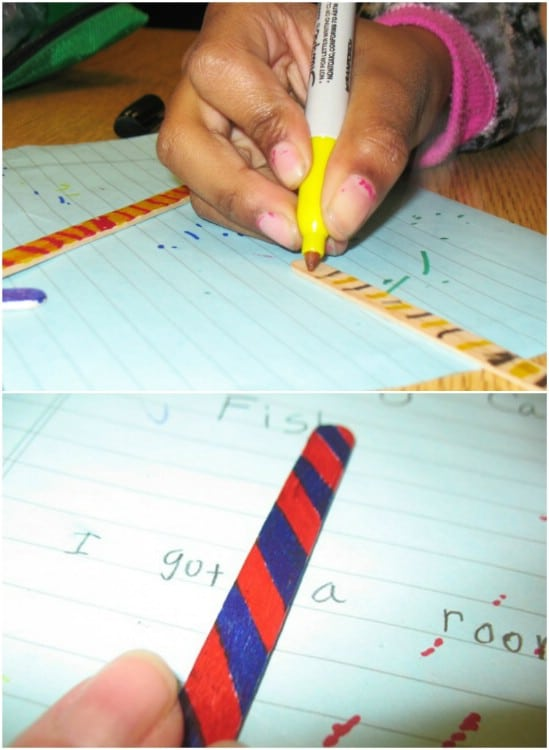 DIY Popsicle Stick Word Spacers