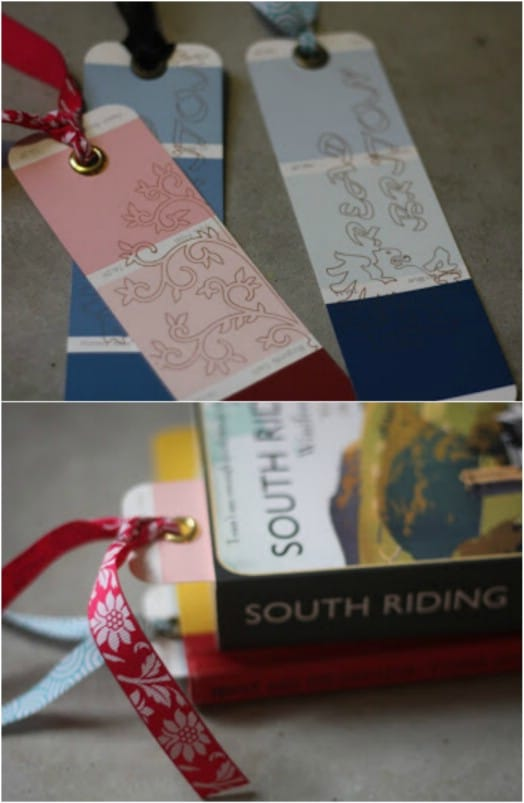 Easy DIY Paint Chip Bookmarks