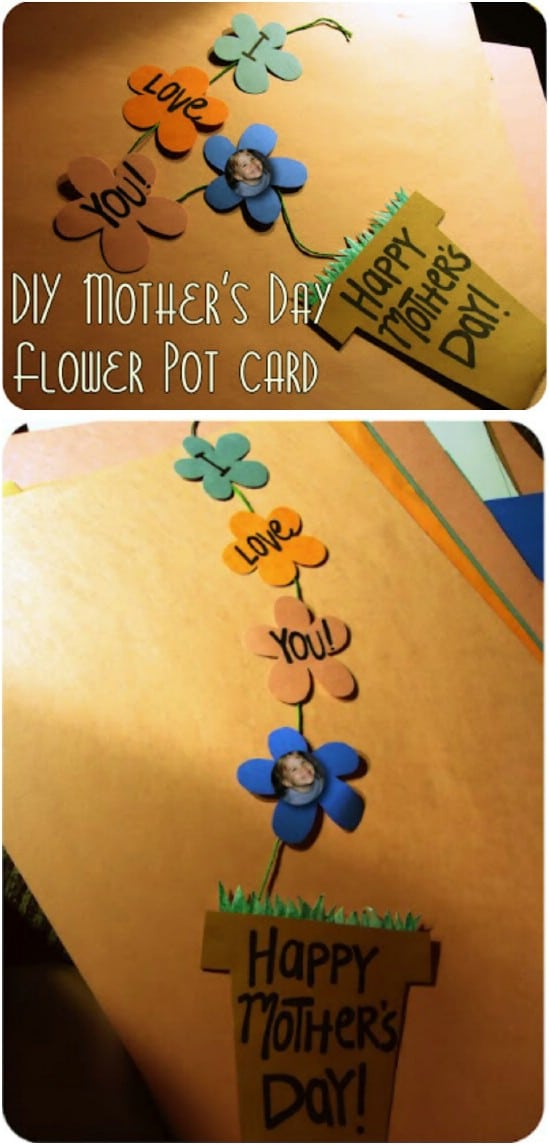 Cute DIY Flower Pot Card With Pictures