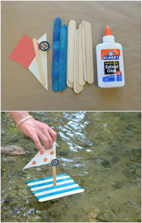 Fun Popsicle Craft Boats