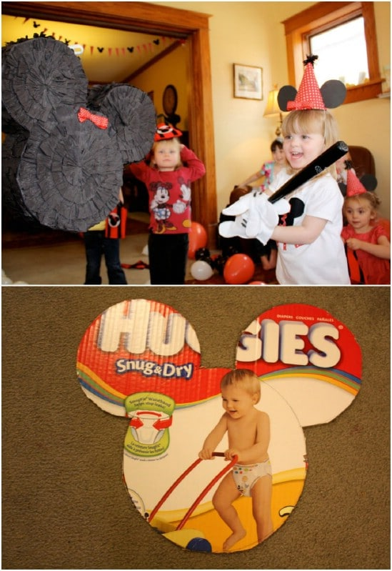 Simple DIY Mickey Mouse Pinata