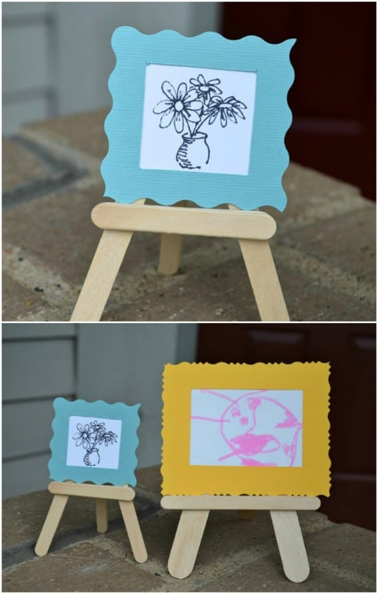 Tiny Popsicle Stick Easels