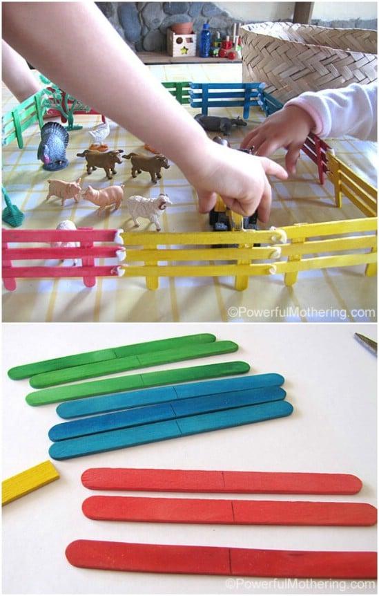 DIY Craft Stick Fencing