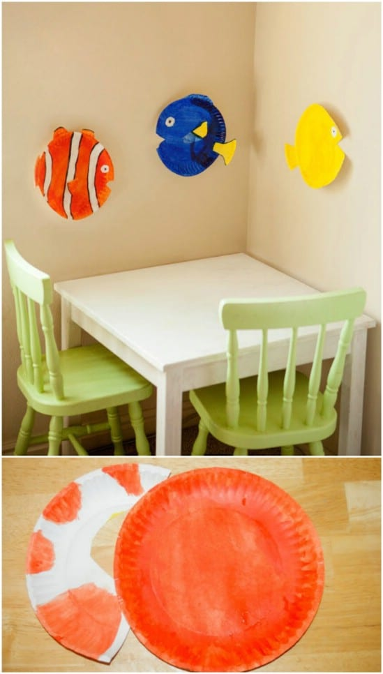DIY Nemo Paper Plate Fish