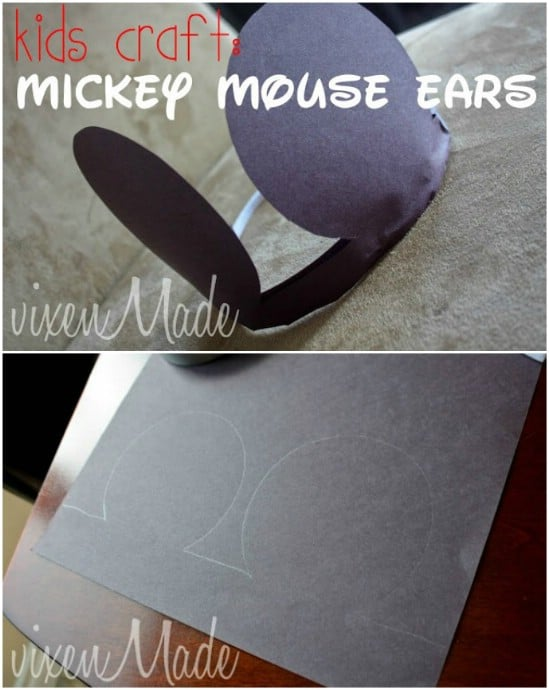 Easy Construction Paper Mickey Ears