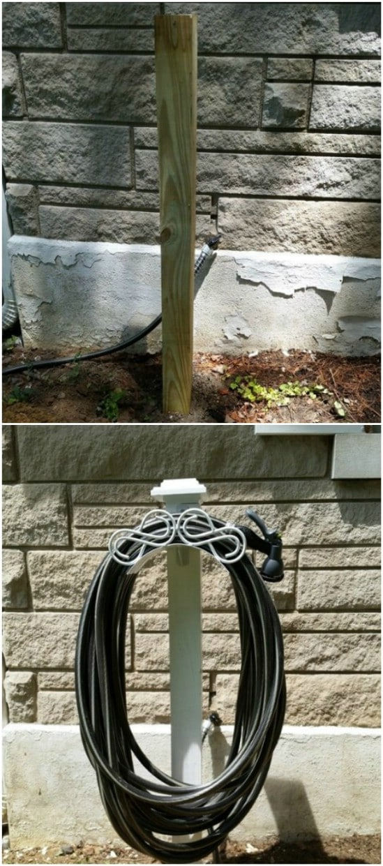 Easy DIY Garden Hose Hanger