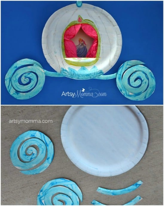 DIY Paper Plate Cinderella Carriage