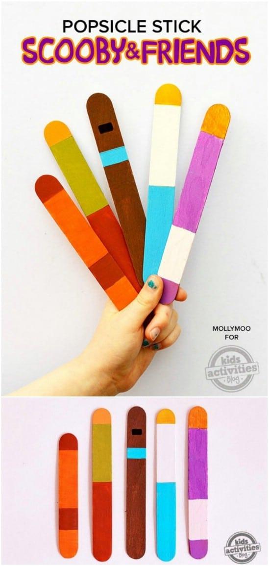 DIY Scooby Doo Popsicle Stick Dolls