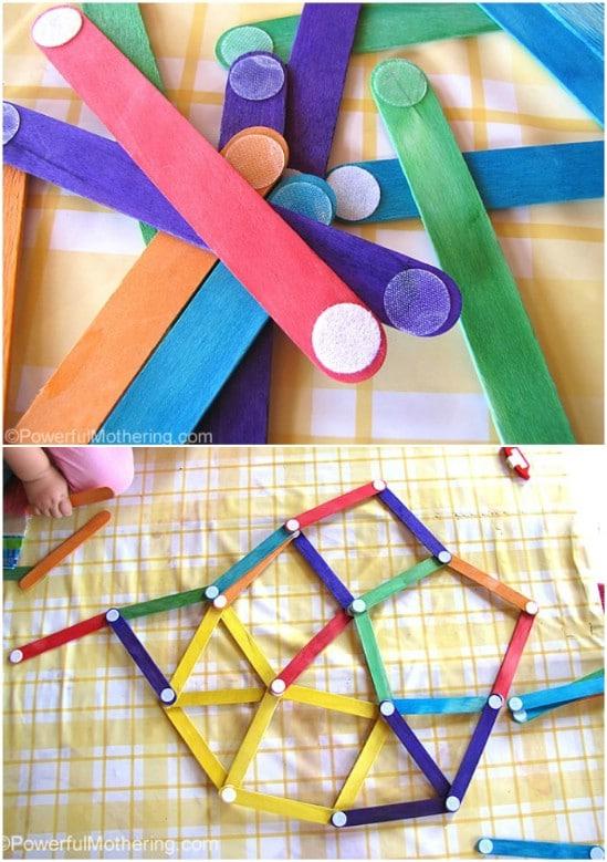 DIY Velcro Dot Building Sticks