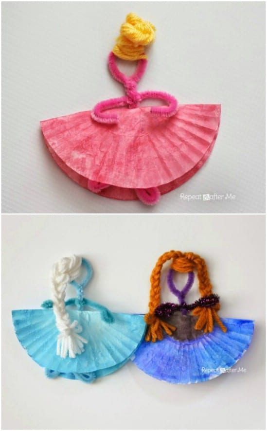 Upcycled Muffin Paper Disney Princess