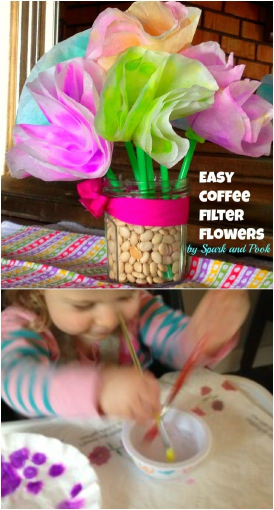 Cute Coffee Filter Flowers