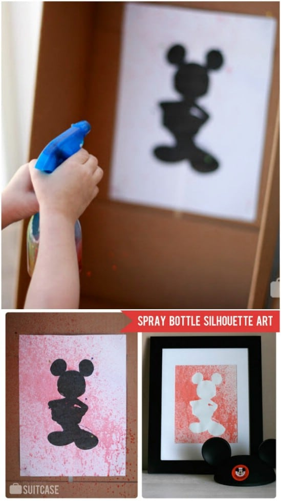 Disney Inspired Spray Bottle Art
