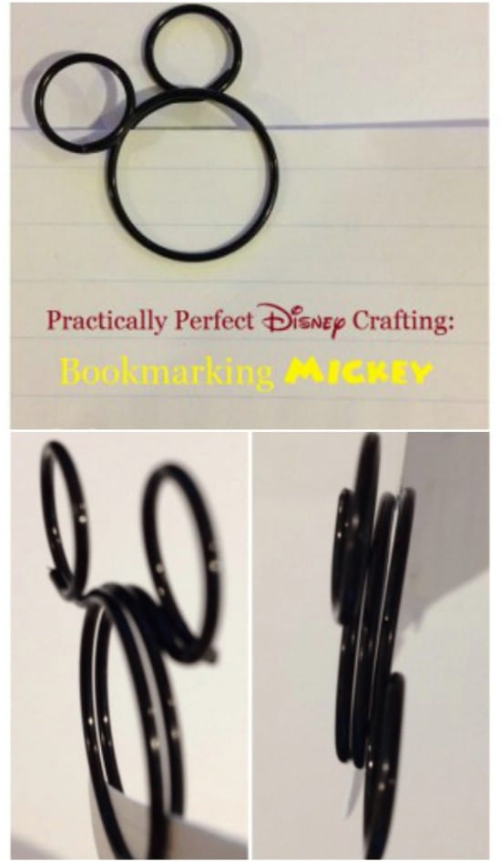 DIY Wire Mickey Mouse Bookmarks