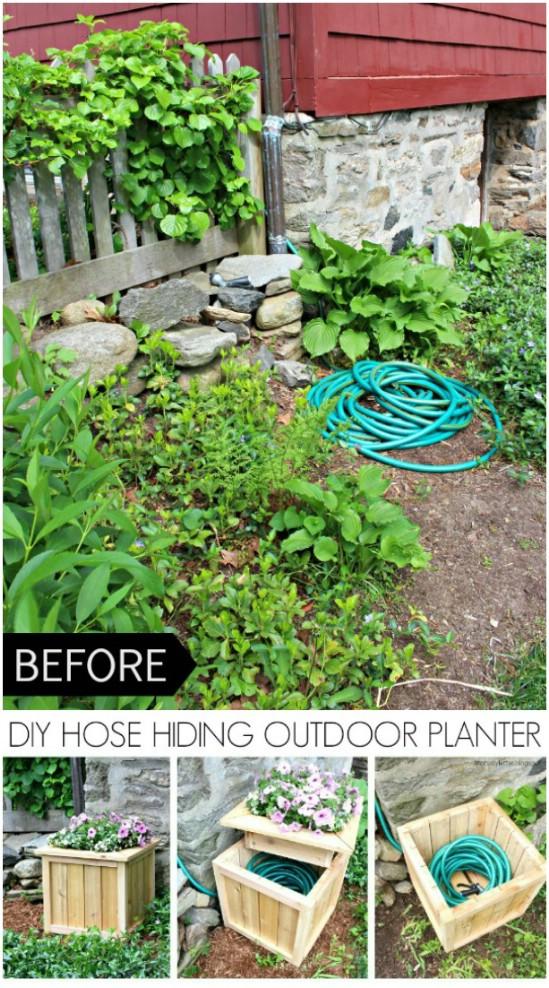 DIY Garden Hose Planter