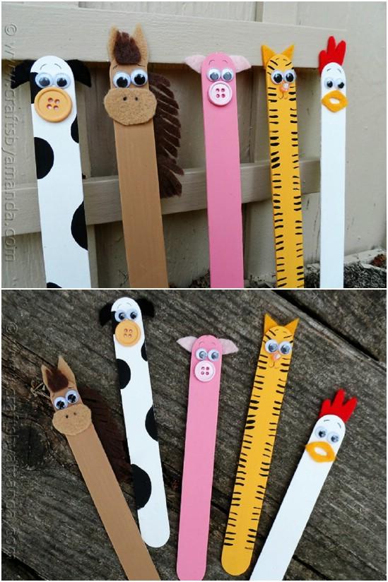 Craft Stick Barnyard Animals