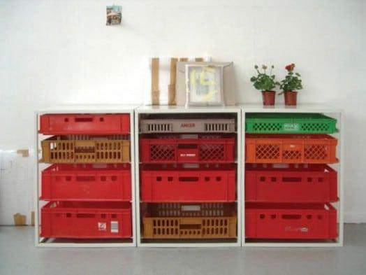 Simple DIY Stackable Plastic Crate Produce Storage