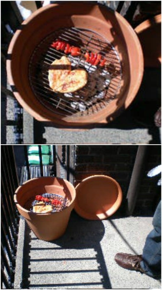Portable Terra Cotta Pot Grill