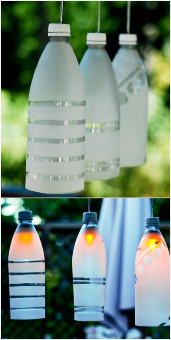 Upcycled Plastic Bottle Frosted Garden Lights