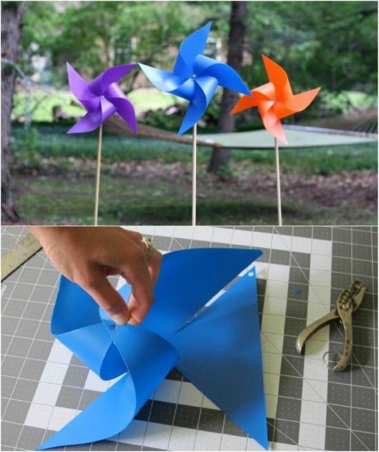 Cute DIY Garden Pinwheels