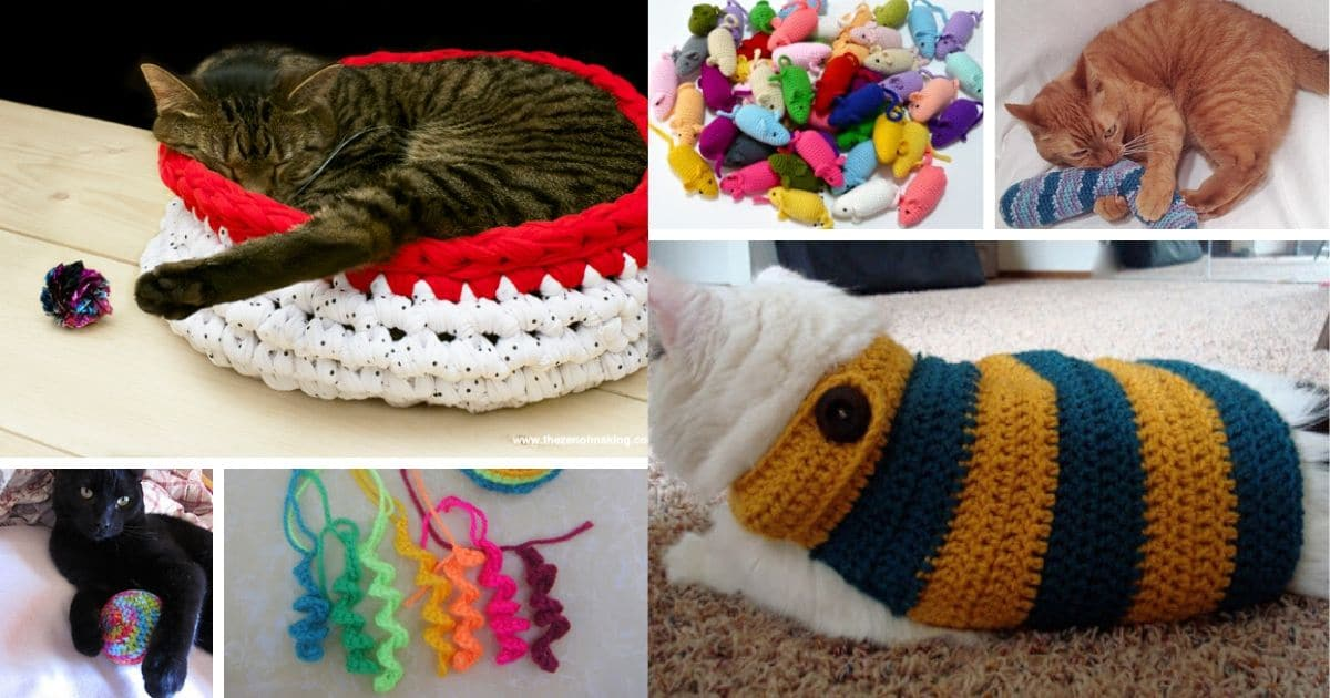 25 Fun And Easy Crochet Patterns For Your Cat Diy Crafts