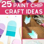 Paint Chip Crafts Collage