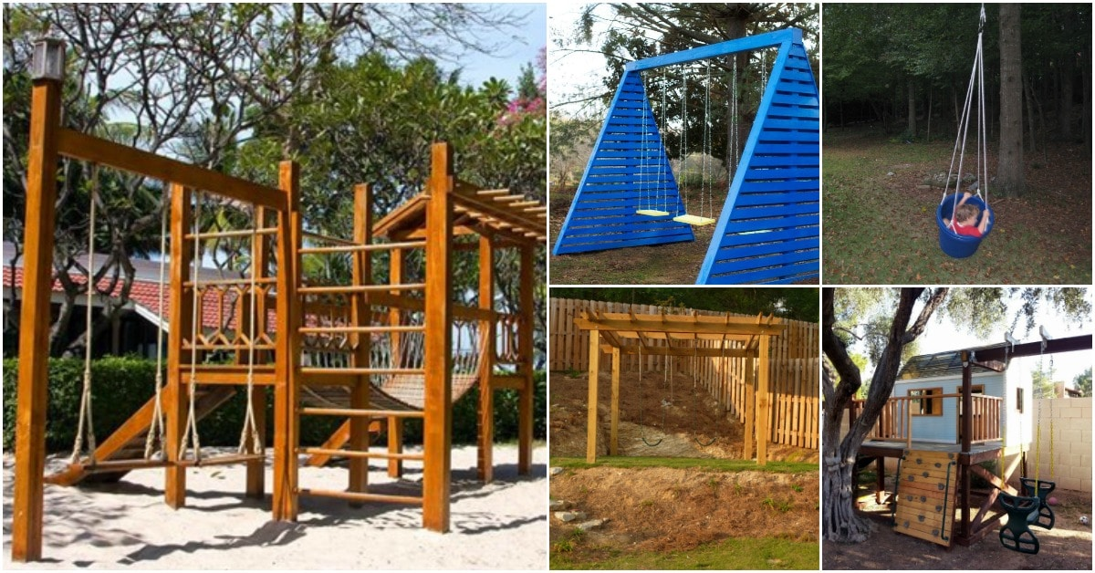 26 Diy Swings That Turn Your Backyard Into A Playground Diy Crafts