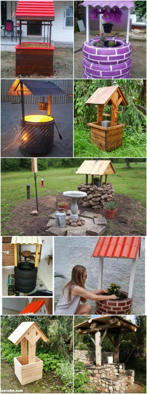 10 Easy DIY Garden Wishing Wells You Can Make Today – With Free Plans!