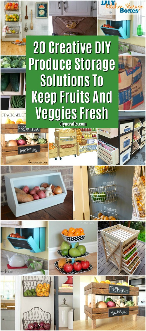 20 Creative DIY Produce Storage Solutions To Keep Fruits And Veggies Fresh