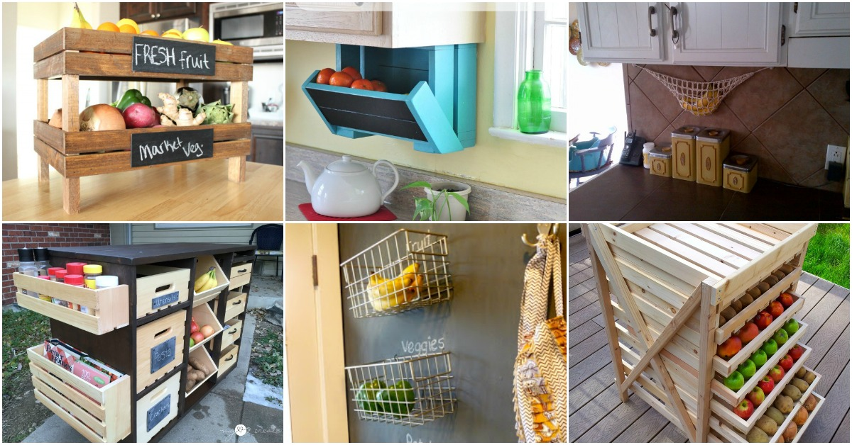 20 Creative DIY Produce Storage Solutions To Keep Fruits ...