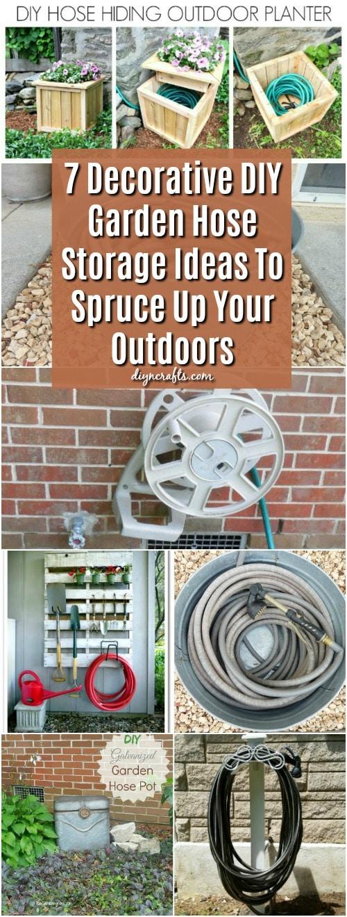 7 Decorative Diy Garden Hose Storage Ideas To Spruce Up