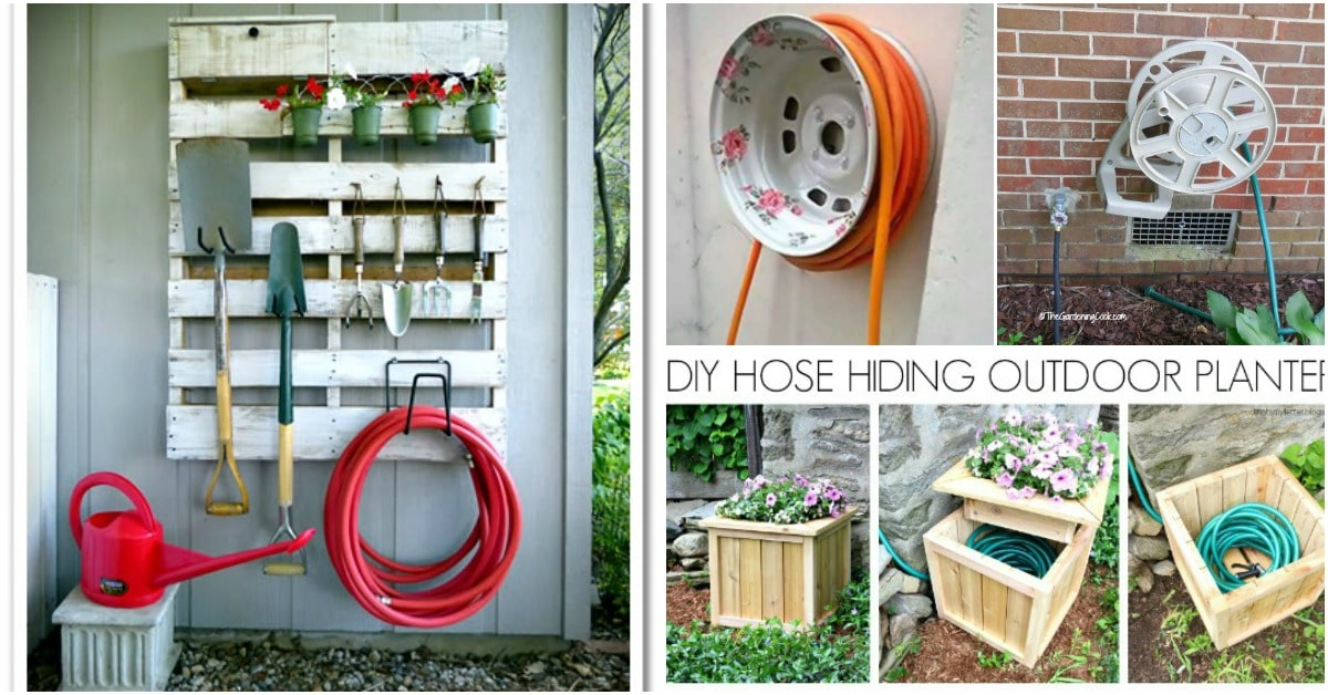 14 Genius Ways To Repurpose Galvanized Buckets And Tubs: 7 Decorative DIY Garden Hose Storage Ideas To Spruce Up